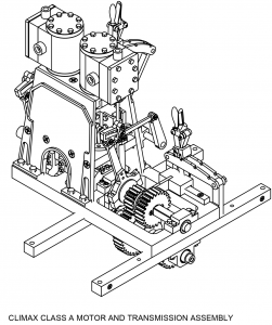 Line Drawing of the Climax Class A Motor Assembly